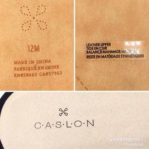 Caslon Shoes - Caslon laser cut perforated black leather slides